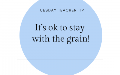 It's ok to stay with the grain!