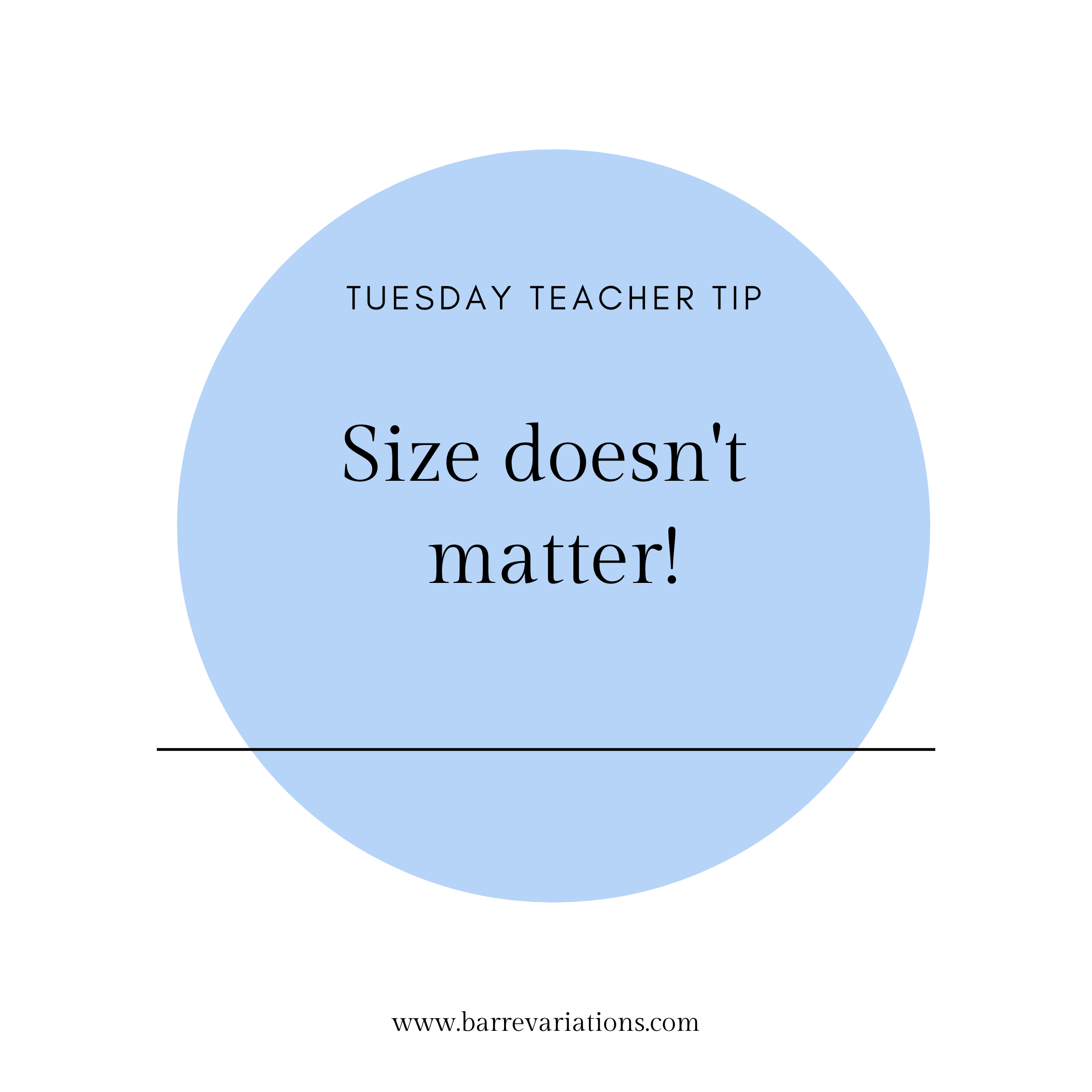 "image of the phrase ""size doesn't matter!"""