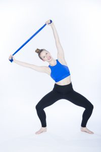 lateral side stretch in 2nd position