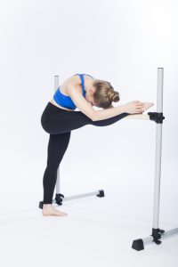 hamstring stretch at the barre photo